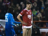 Ben Brereton in action for Nottingham Forest on January 7, 2018