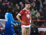Ben Brereton in action for Nottingham Forest on January 7, 2018
