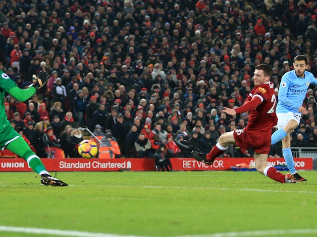 Image result for liverpool 4-3 man city bernardo silva