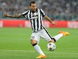 Carlos Tevez in action for Juventus in April 2015