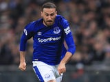 Cenk Tosun in action during the Premier League game between Tottenham Hotspur and Everton on January 13, 2018