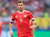 Fyodor Smolov in action for Russia in June 2017