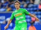 Jannik Vestergaard of Borussia Monchengladbach during a pre-season friendly with Leicester City on August 4, 2017