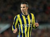 Robin van Persie in action for Fenerbahce against Manchester United in the Europa League on October 20, 2016