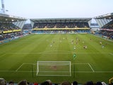 General view inside Millwall ground The Den, taken in January 2009