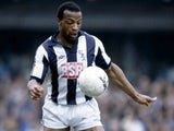 Cyrille Regis in action for West Bromwich Albion in 1982