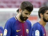 Gerard Pique in action for Barcelona on October 1, 2017