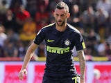 Marcelo Brozovic in action for Inter Milan on October 1, 2017