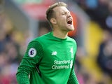 Simon Mignolet in action for Liverpool on September 16, 2017