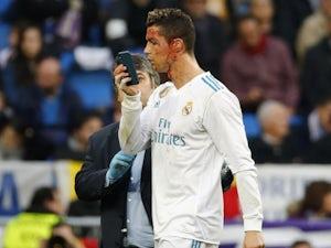 Cristiano Ronaldo with a bleeding gash during the La Liga game between Real Madrid and Deportivo La Coruna on January 21, 2018