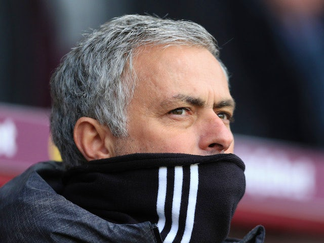 Jose Mourinho watches on during the Premier League game between Burnley and Manchester United on January 20, 2018