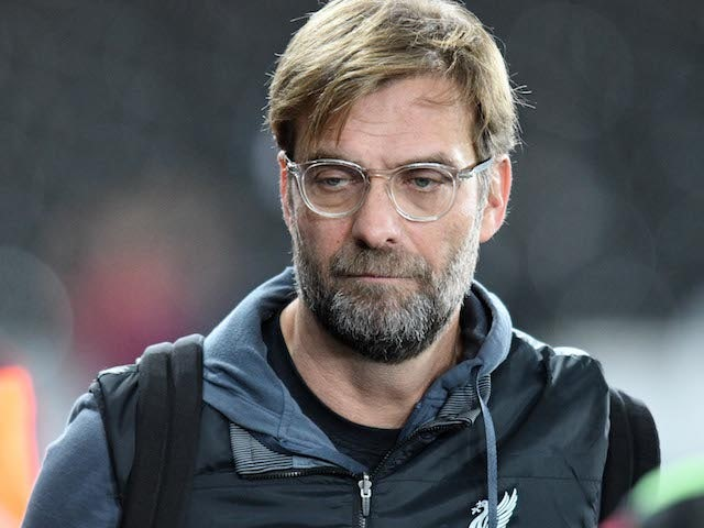 Jurgen Klopp arrives for the Premier League game between Swansea City and Liverpool on January 22, 2018
