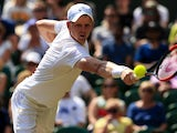 Kyle Edmund in action at Wimbledon on July 6, 2017