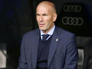 Zinedine Zidane watches on during the Copa del Rey game between Real Madrid and Leganes on January 24, 2018