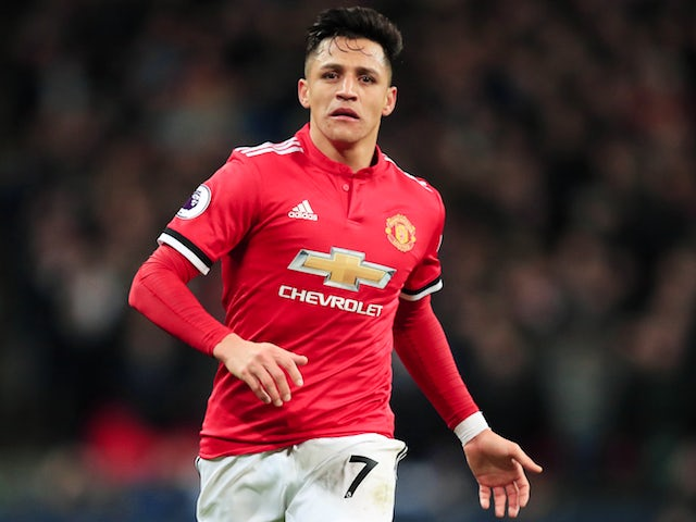 Alexis Sanchez in action during the Premier League game between Tottenham Hotspur and Manchester United on January 31, 2018