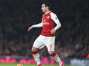Henrikh Mkhitaryan in action during the Premier League game between Arsenal and Everton on February 3, 2018
