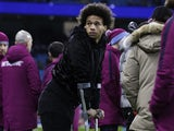 An injured Leroy Sane during the Premier League game between Manchester City and West Bromwich Albion on January 31, 2018