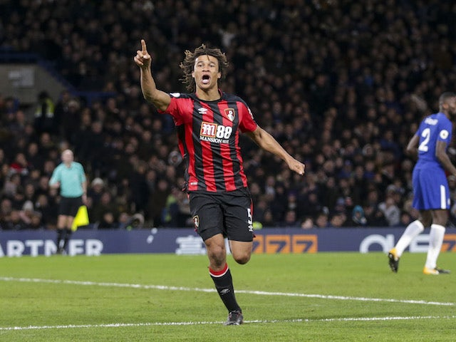 Nathan Ake makes it three during the Premier League game between Chelsea and Bournemouth on January 31, 2018
