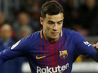 Philippe Coutinho in action for Barcelona on January 28, 2018