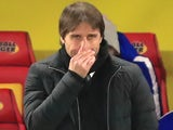 Antonio Conte watches on during Chelsea's 4-1 defeat at Watford on February 6, 2018