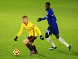 Gerard Deulofeu of Watford in action with Tiemoue Bakayoko of Chelsea on February 5, 2018