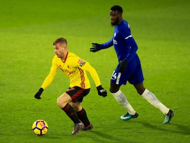 Gerard Deulofeu of Watford in action with Tiemoue Bakayoko of Chelsea on February 5, 2018