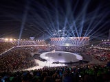 A view inside the opening ceremony for the Winter Olympics in Pyeongchang on February 9, 2018