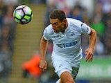 Angel Rangel in action for Swansea City on October 1, 2016
