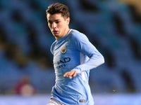 Brahim Diaz in action for Manchester City under-19s on February 20, 2018