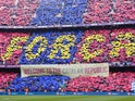 Generic view of Barcelona supporters inside Camp Nou