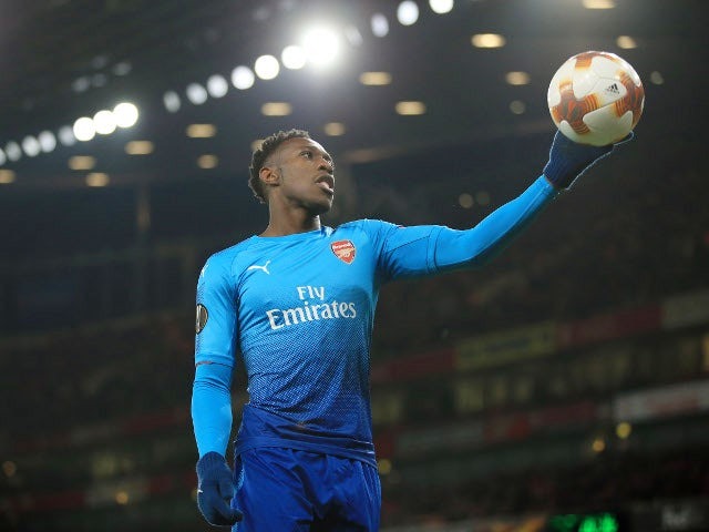 Danny Welbeck of Arsenal during the Europa League match against Ostersunds FK on February 22, 2018
