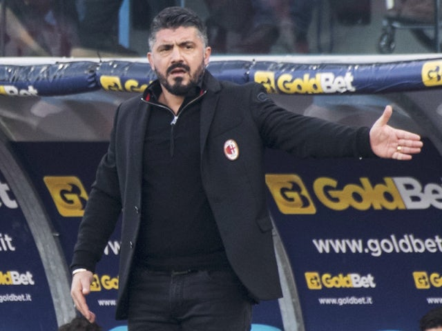 Milan manager Gennaro Gattuso pictured on February 10, 2018