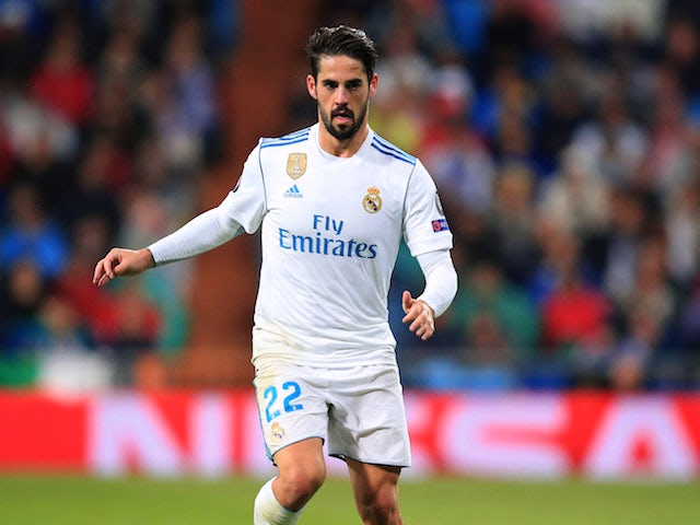 Isco in action for Real Madrid in October 2017