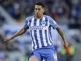 Leonardo Ulloa in action for Brighton & Hove Albion on February 17, 2018