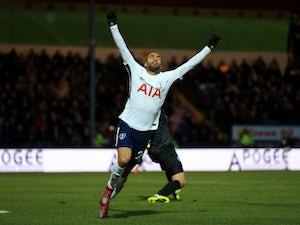 Lucas Moura in action for Tottenham Hotspur during their FA Cup fifth round clash with Rochdale at Spotland Stadium on February 18, 2017