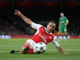 Santi Cazorla in action for Arsenal in October 2016