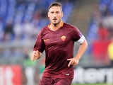 Francesco Totti in action for Roma in September 2016