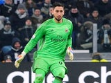 Gianluigi Donnarumma in action for Milan in January 2017