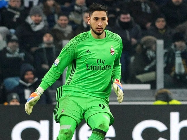 Milan keeper Donnarumma 'available for £35m'