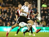 Aleksandar Mitrovic in action during the Championship game between Fulham and Sheffield United on March 6, 2018