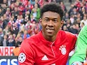 David Alaba in action for Bayern Munich in April 2017