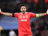 Juventus goalkeeper Gianluigi Buffon appeals a decision during the Champions League match against Tottenham Hotspur on March 7, 2018