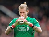 Loris Karius in action during the Premier League game between Manchester United and Liverpool on March 10, 2018