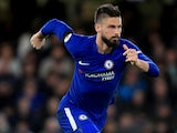 Olivier Giroud in action during the Premier League game between Chelsea and Crystal Palace on March 10, 2018