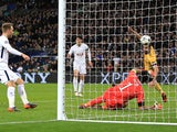 Tottenham Hotspur's Son Heung-min opens the scoring against Juventus in the Champions League on March 7, 2018