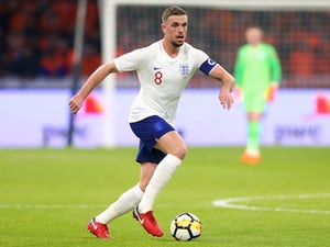Jordan Henderson in action for England against the Netherlands on March 23, 2018