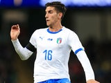 Lorenzo Pellegrini in action for Italy against Argentina on March 23, 2018