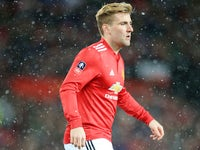 Luke Shaw in action for Manchester United on March 17, 2018
