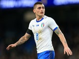 Marco Verratti in action for Italy against Argentina on March 23, 2018