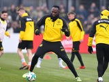Usain Bolt in action for Borussia Dortmund on March 23, 2018